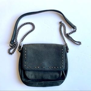 Rebecca Minkoff Black Leather Small Crossbody Bag